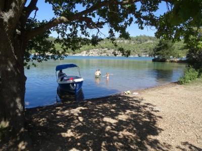 Baignade Lac de Quinson - En Chemin